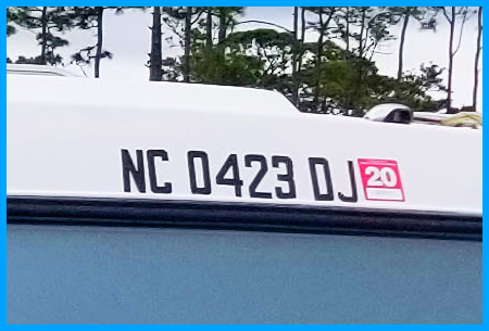 Custom Boat Registration Numbers